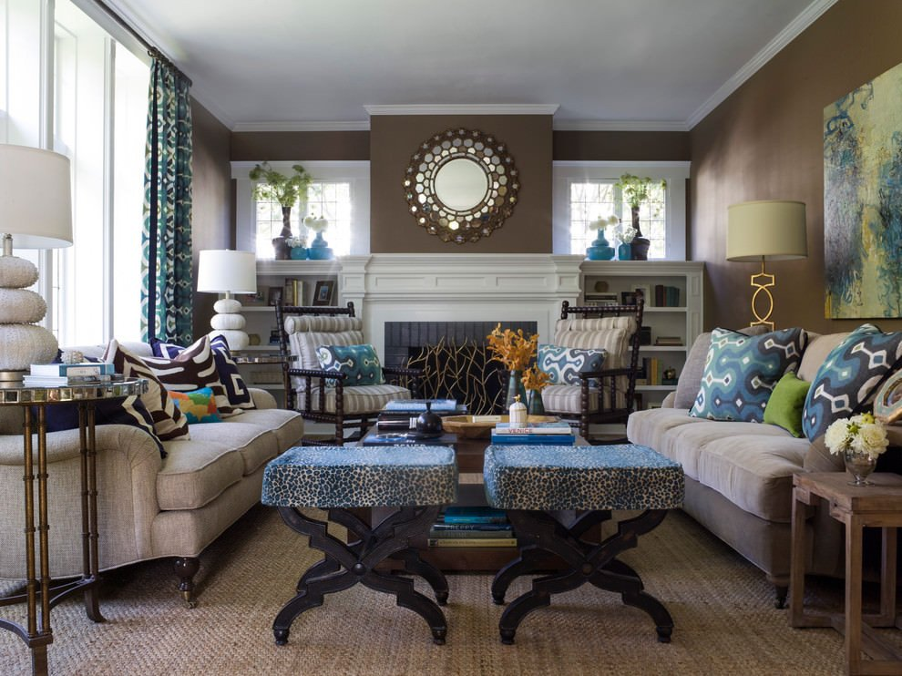 Accent Decor for Living Room Unique 20 Blue and Brown Living Room Designs Decorating Ideas