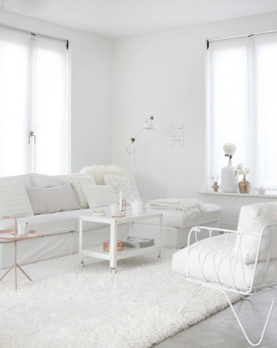 All White Living Room Decor Inspirational All Shades White 30 Beautiful Living Room Designs