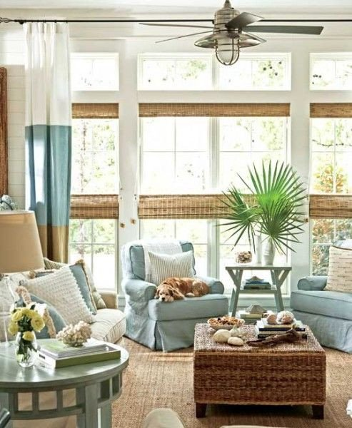 Beach House Living Room Decor Awesome 25 Coastal and Beach Inspired Sunroom Design Ideas Digsdigs