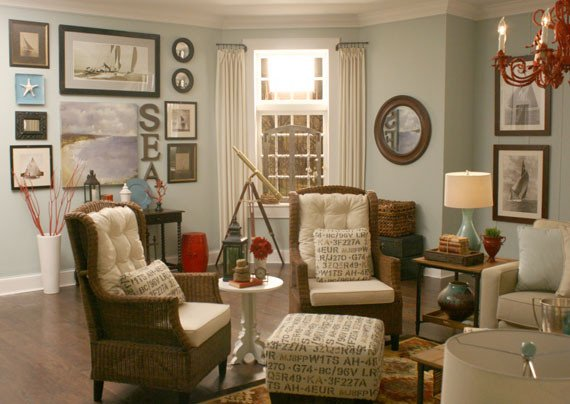 Beach themed Living Room Decor Beautiful Remodelaholic