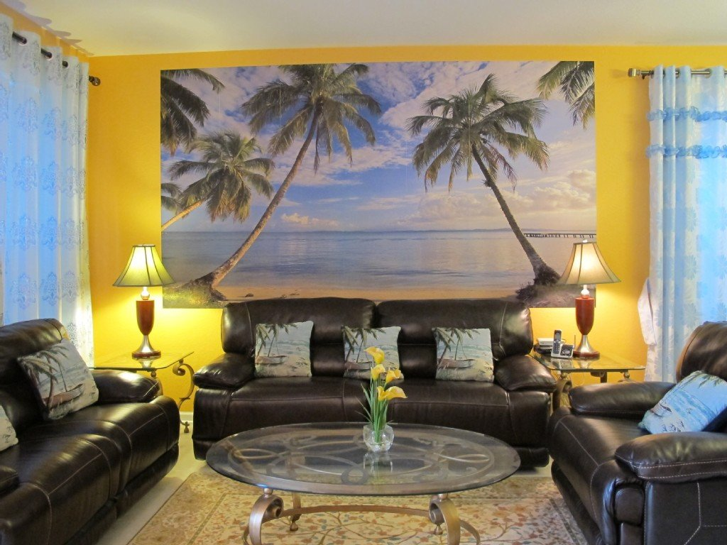 Beach themed Living Room Decor Elegant Beach themed Living Room with Colorful Furniture Set