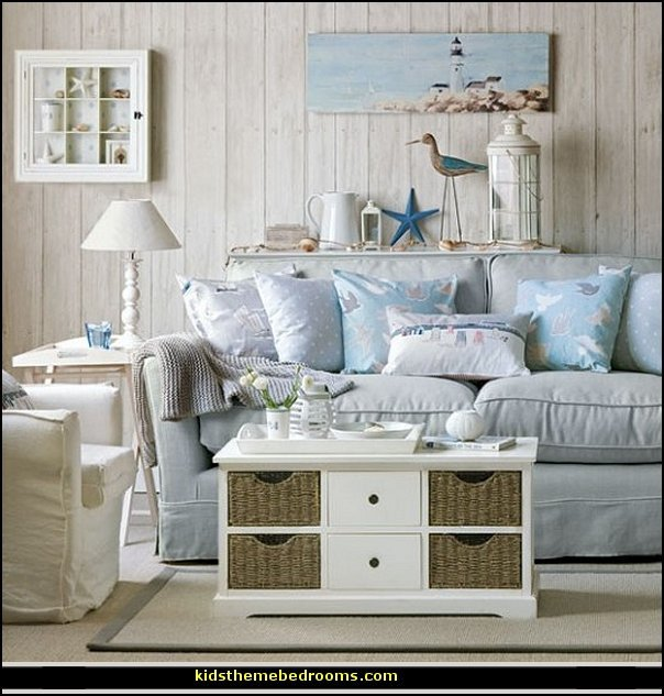 Beach themed Living Room Decor Elegant Decorating theme Bedrooms Maries Manor Seaside
