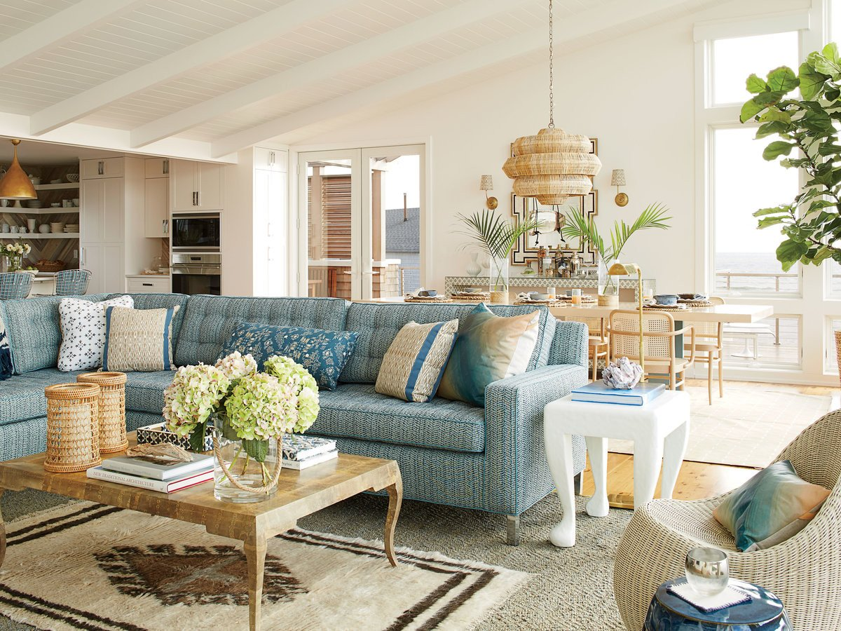 Beach themed Living Room Decor Elegant total Beach House Coastal Living