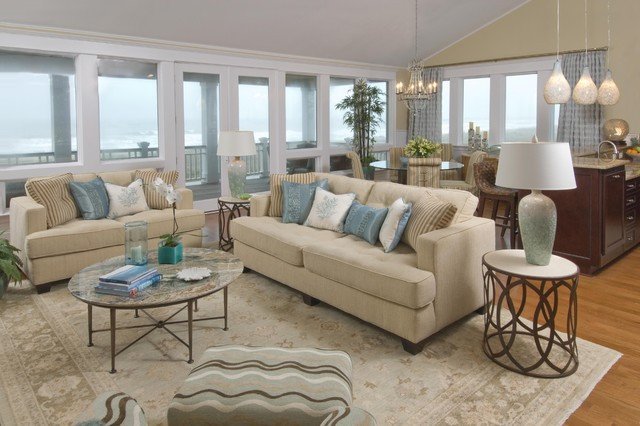 Beach themed Living Room Decor Inspirational Beach House Living Room Traditional Living Room
