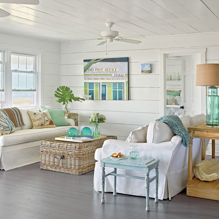 Beach themed Living Room Decor Lovely 48 Living Rooms with Coastal Style