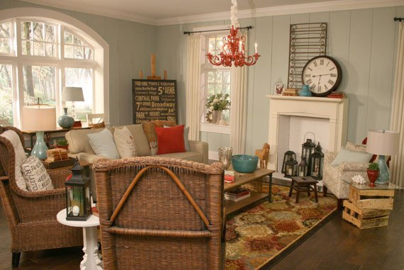 Beach themed Living Room Decor Lovely Remodelaholic