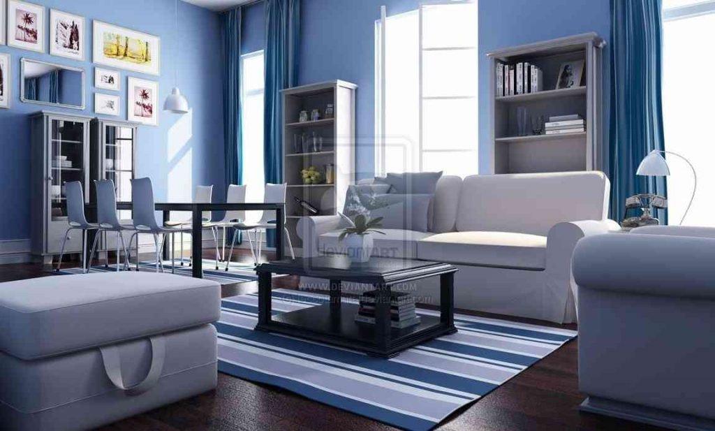 Blue Living Room Decor Ideas Elegant Apply the Blue Color for A Cool Living Room Interior