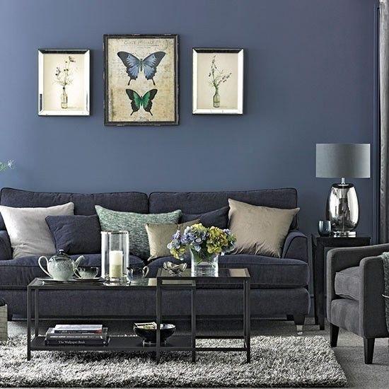 Blue Living Room Decor Ideas Luxury Denim Blue and Grey Living Room
