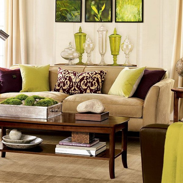 Brown Furniture Living Room Decor Beautiful 28 Green and Brown Decoration Ideas