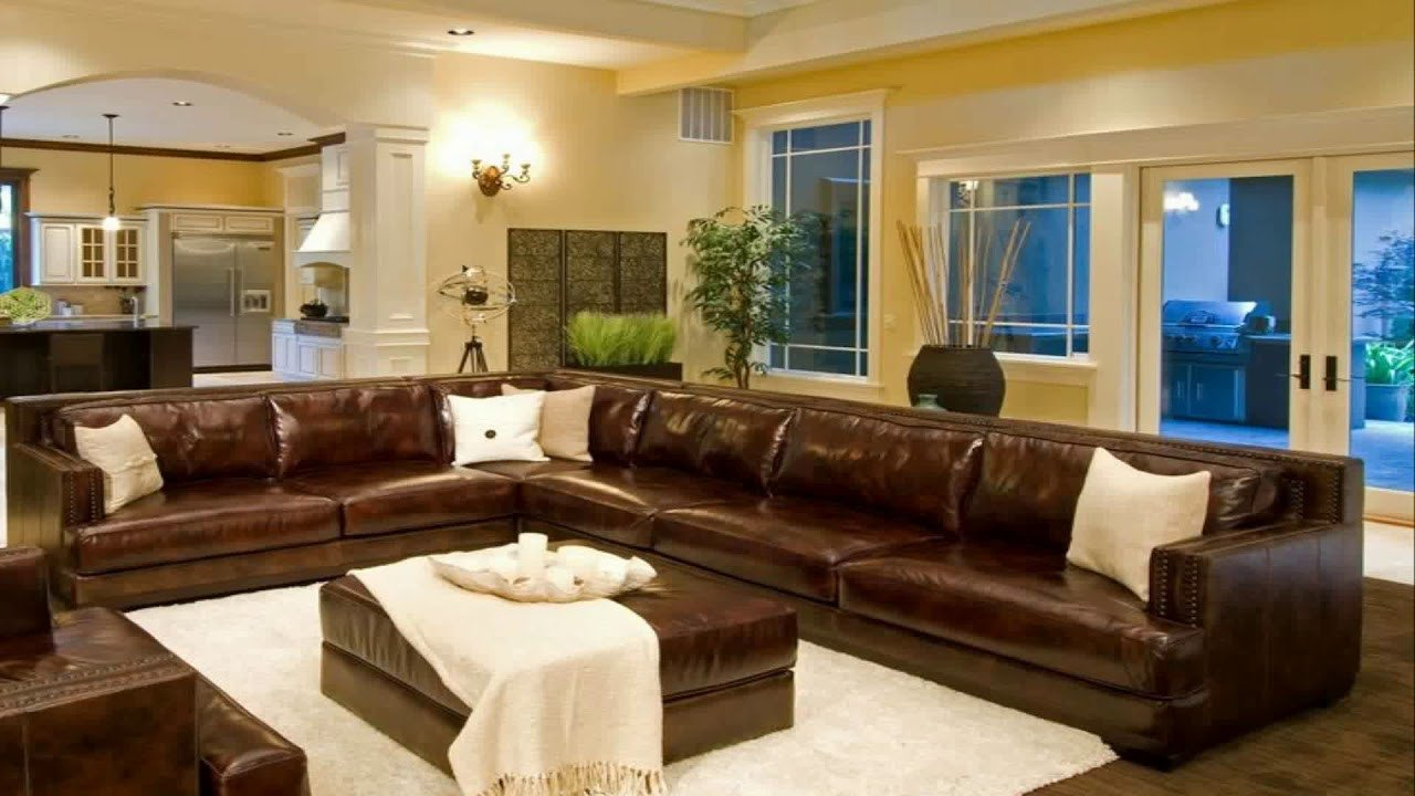 Brown Living Room Decor Ideas Beautiful Living Room Decorating Ideas with Brown Leather Sectional