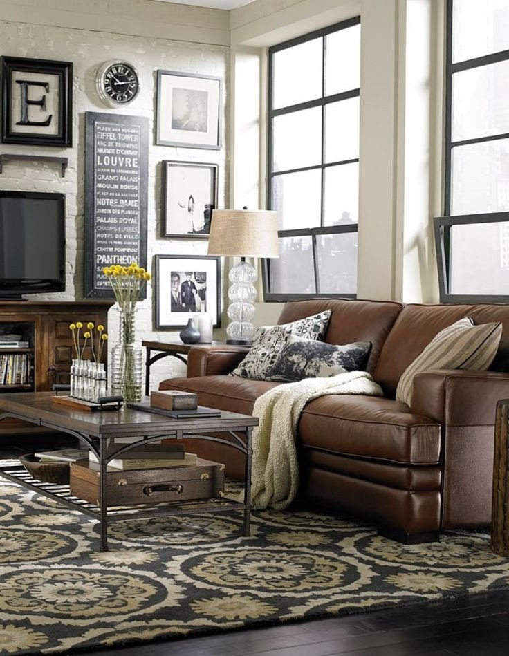 Brown sofa Living Room Decor Best Of Best 25 Brown Leather sofas Ideas On Pinterest