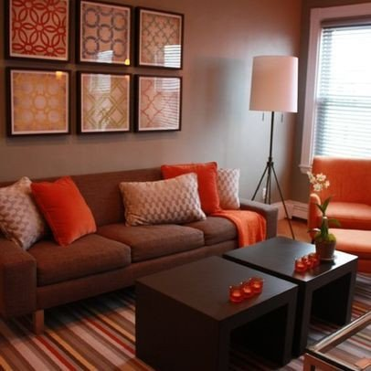 Brown sofa Living Room Decor Best Of Living Room Brown and orange Design Remodel