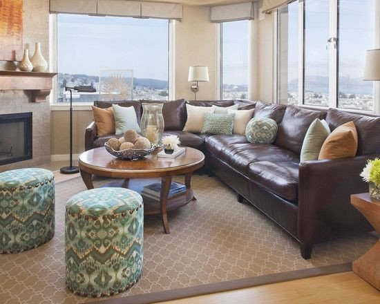 Brown sofa Living Room Decor Luxury Decorating Using Brown Leather Couches On Pinterest