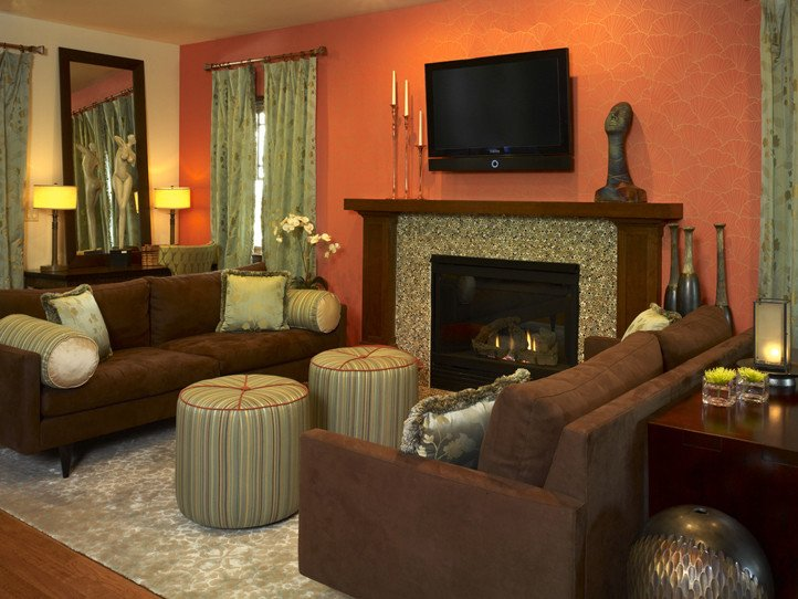 Burnt orange Living Room Decor Fresh 2013 Transitional Living Room Decorating Ideas by andrea
