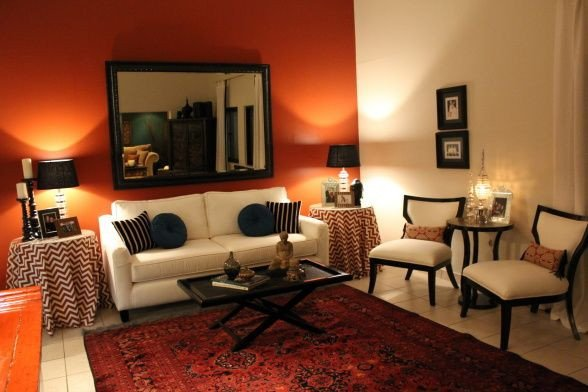 Burnt orange Living Room Decor New Modern Retro Living Room I Wanted to Update My Living