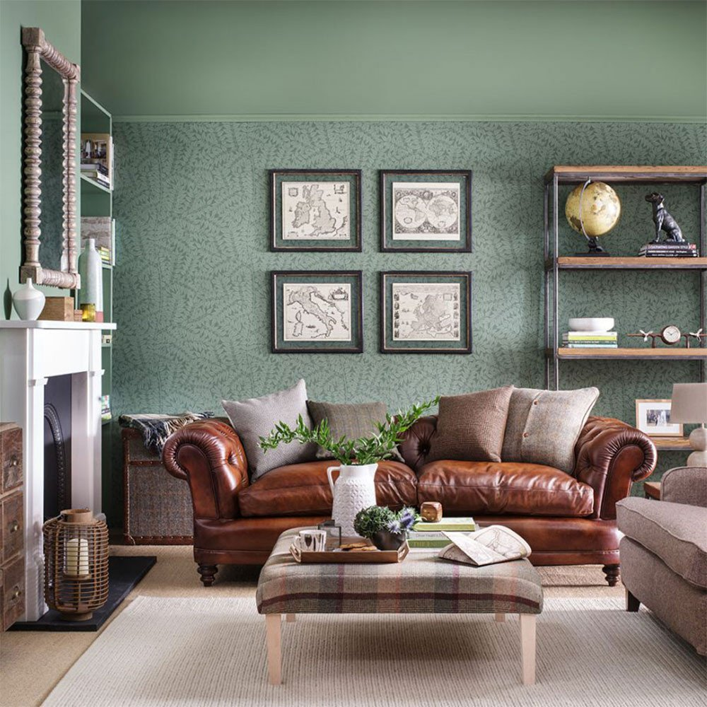 Country themed Living Room Decor Beautiful Green Living Room Ideas for soothing sophisticated Spaces