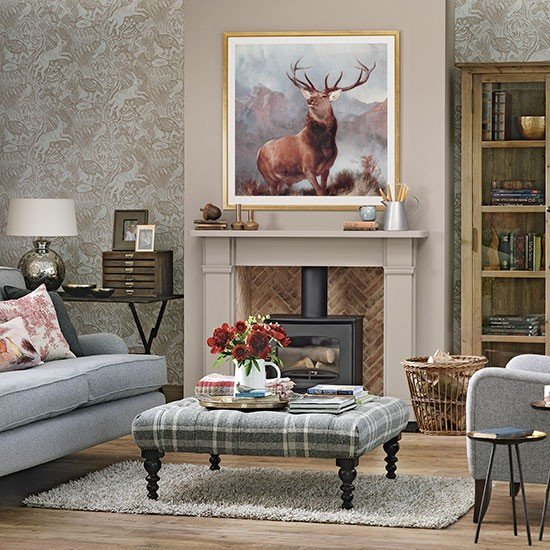 Country themed Living Room Decor Luxury Woodland theme Country Living Room