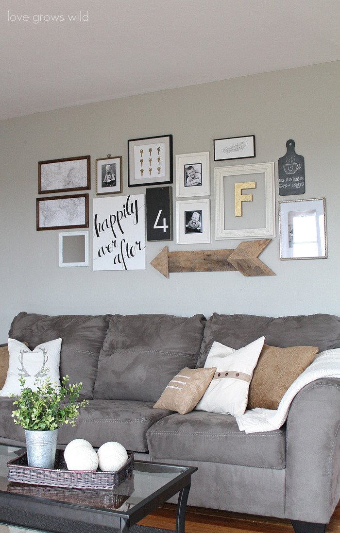 Grey Couch Living Room Decor Fresh Living Room Gallery Wall Love Grows Wild
