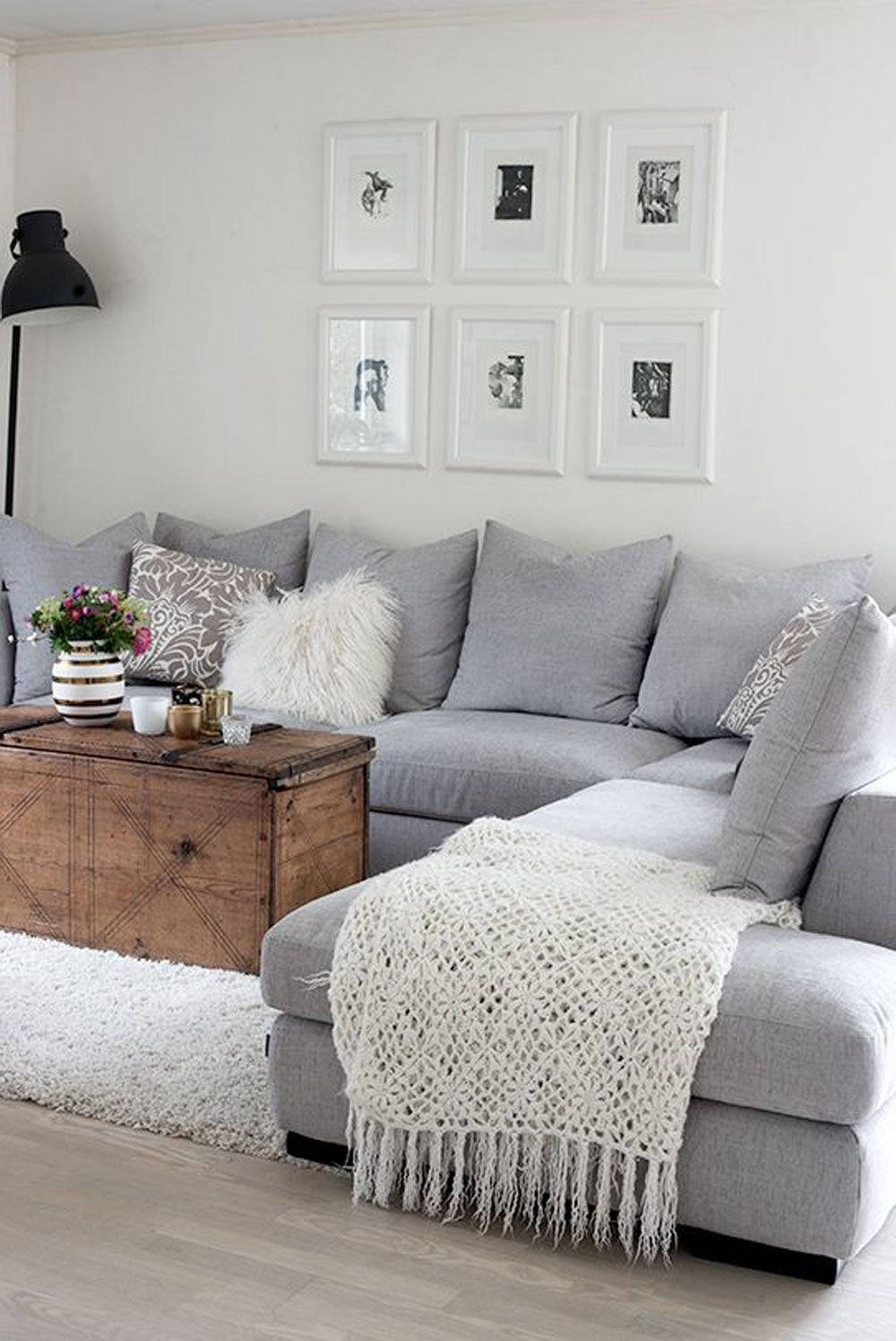 Grey Couch Living Room Decor Fresh This Makes It Cozy and It Might Only Be A Throw or A
