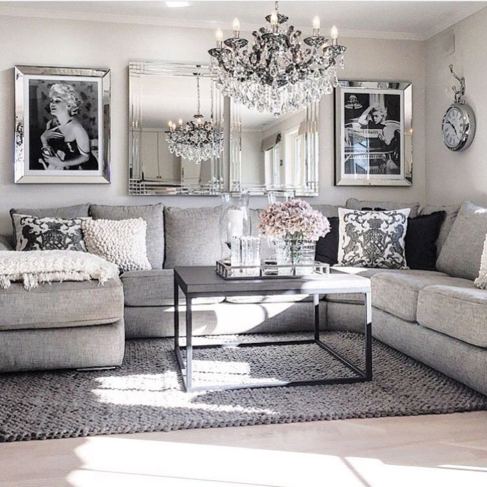 Grey Couch Living Room Decor New Modern Glam Living Room Decorating Ideas 19