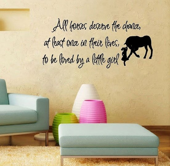 Horse Decor for Living Room Fresh Aliexpress Buy Love Horse Girls Vinyl Wall Quote