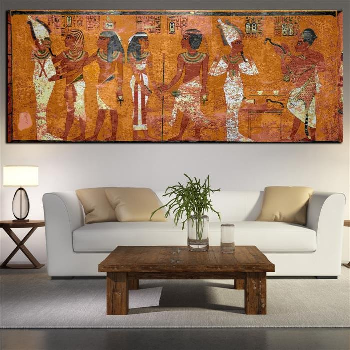 Large Living Room Wall Decor Elegant Egyptian Decor Canvas Painting Oil Painting Wall