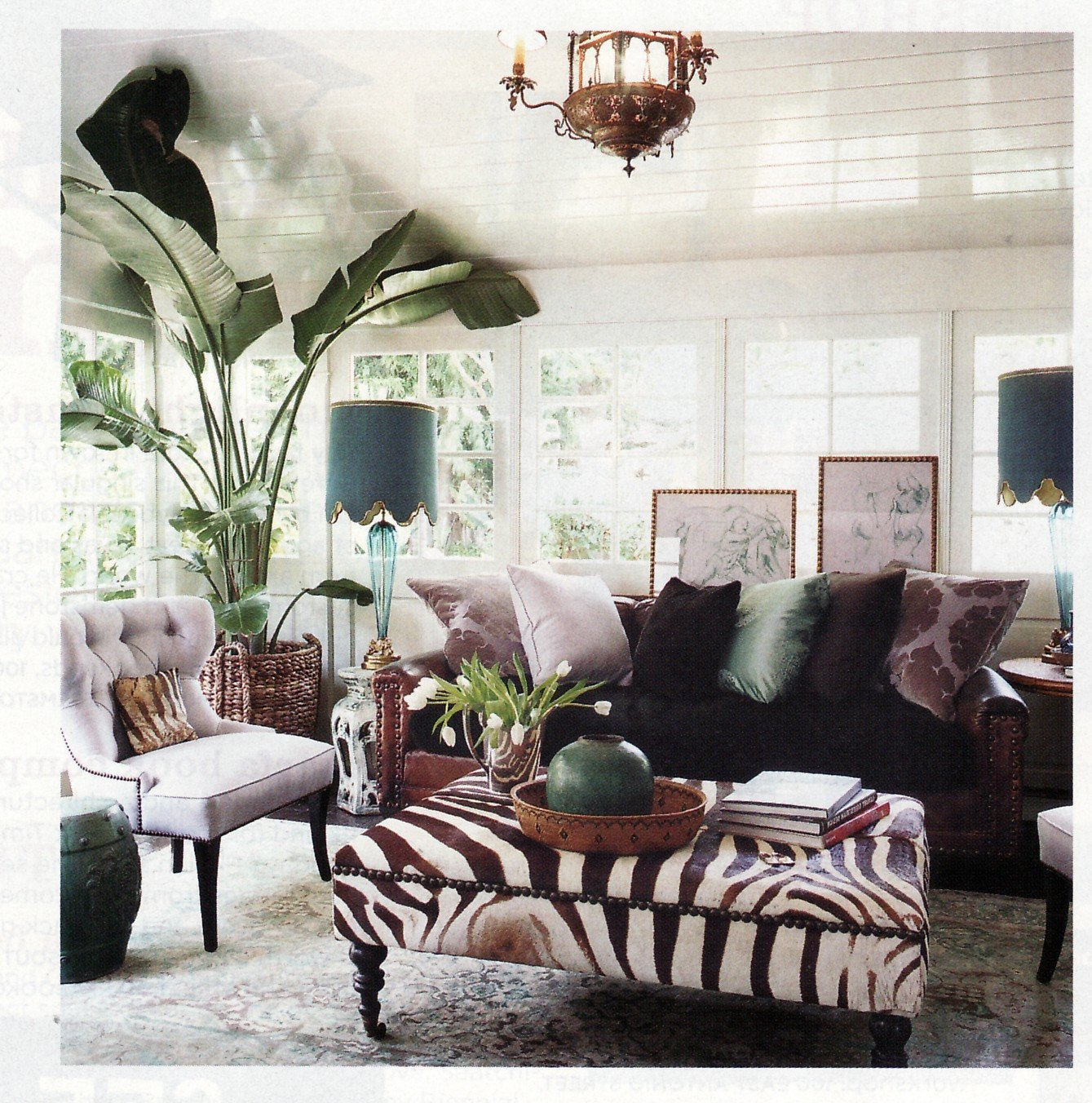 Leopard Decor for Living Room Luxury Rachel Hazelton Interior Design Style File Boho Chic