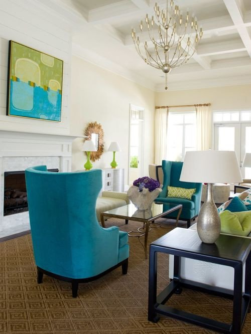 Lime Green Living Room Decor New Turquoise and Lime Green Living Room Design Ideas