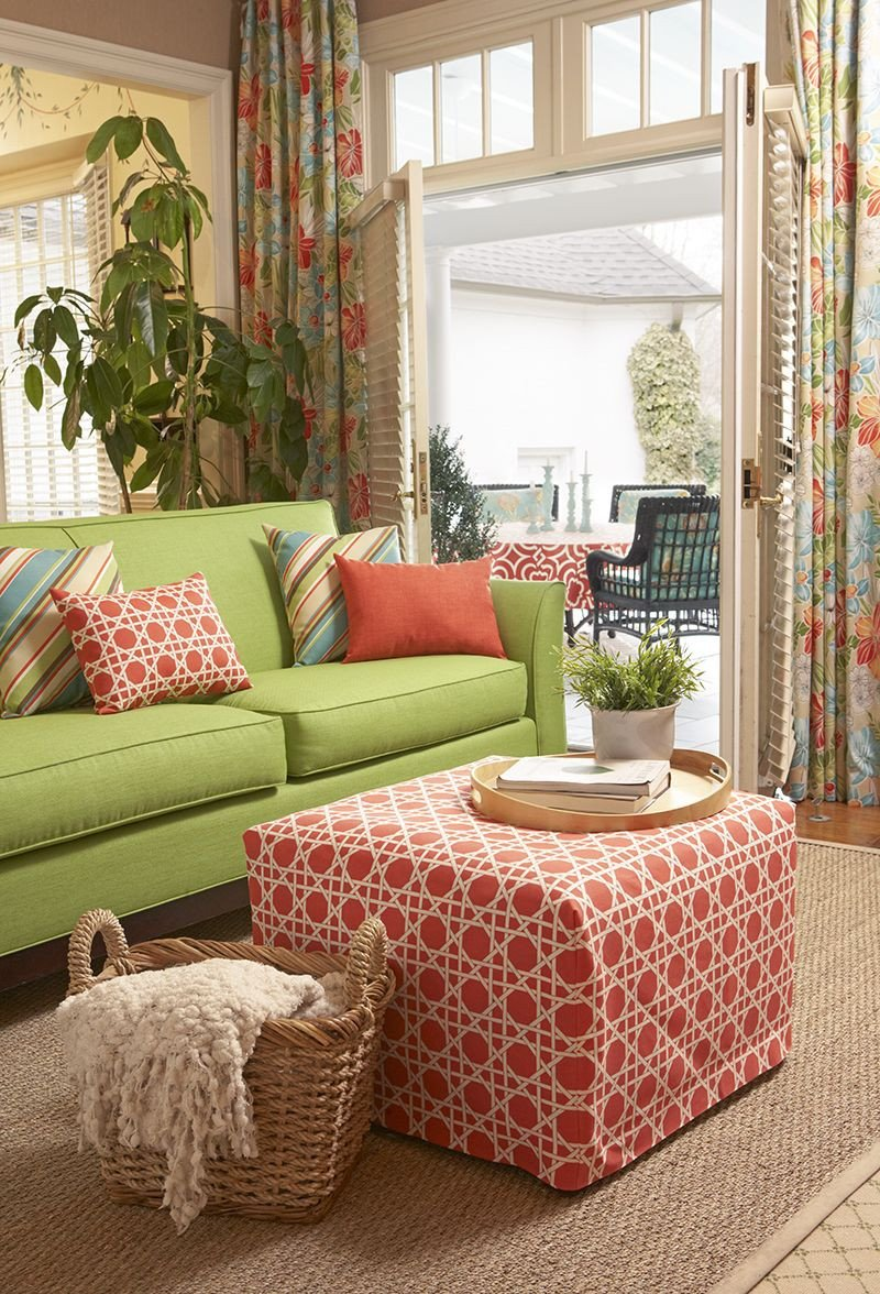 Lime Green Living Room Decor Unique Coral and Lime Green Living Room Color Story Featuring