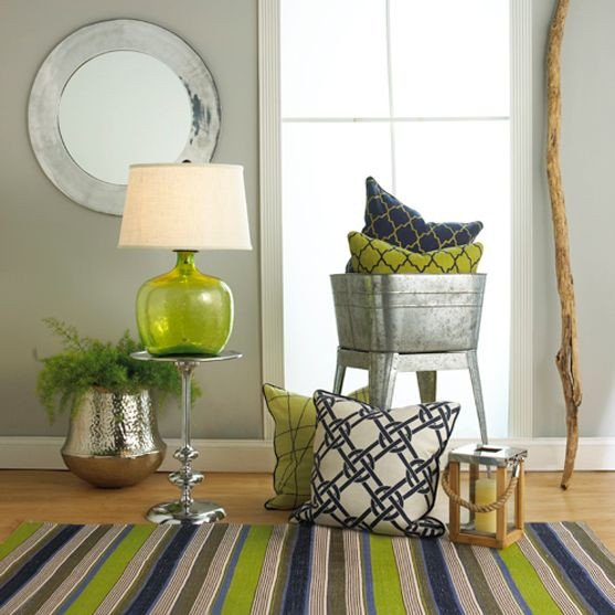 Lime Green Living Room Decor Unique Navy Blue & Lime Green Home Decor