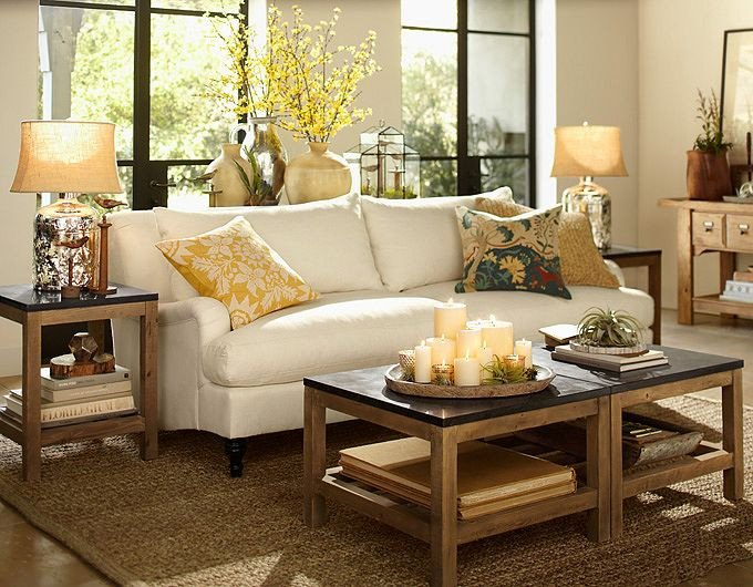 Living Room Coffee Table Decor Fresh Down to Earth Style Black White & Earth tones