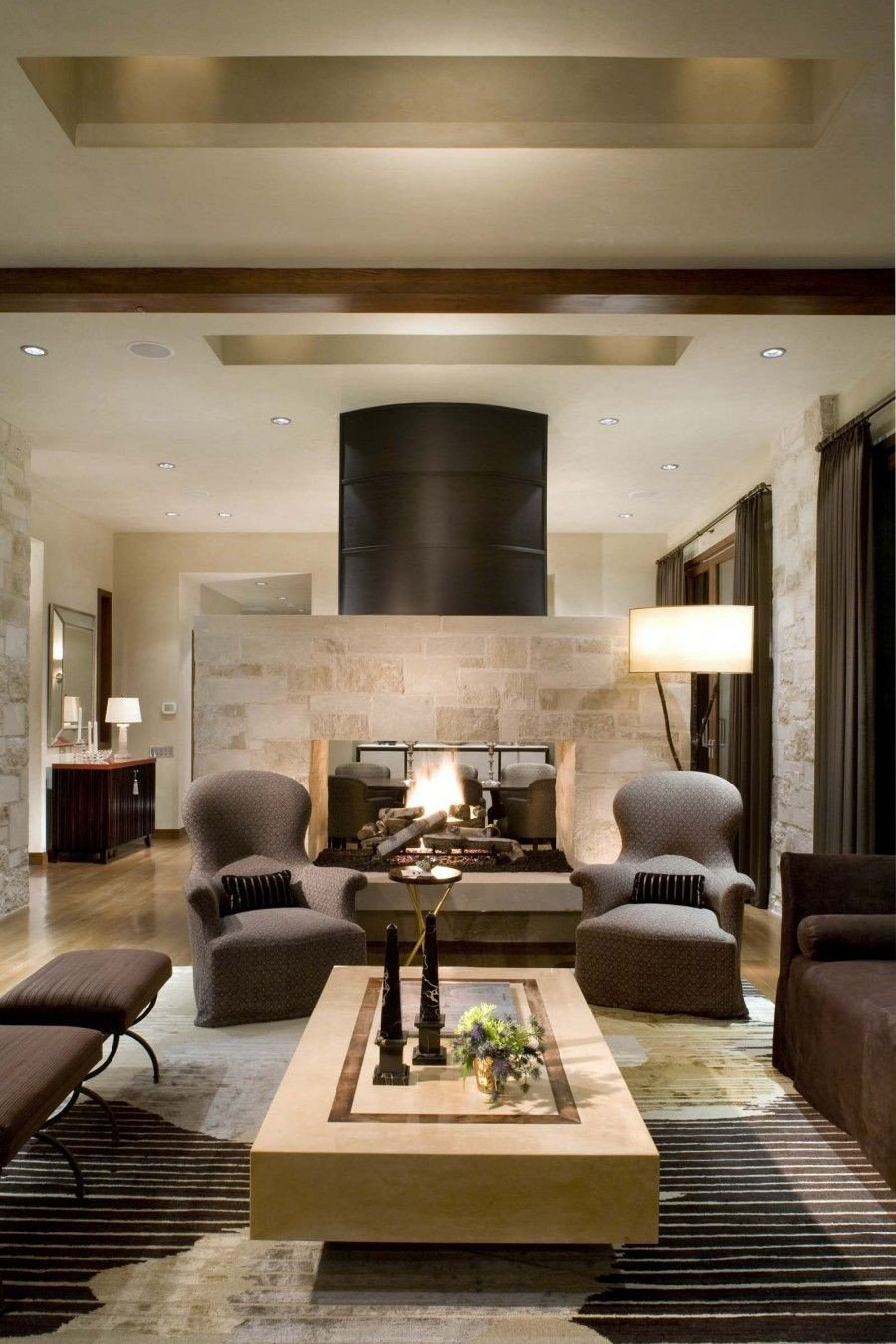 Living Room Decor with Fireplace Lovely 16 Fabulous Earth tones Living Room Designs Decoholic