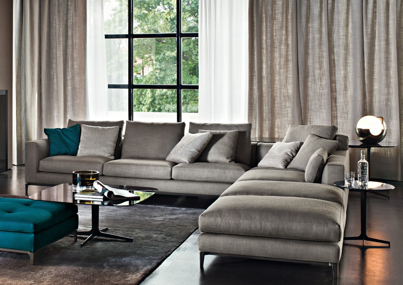 Living Room Decor with Sectional Beautiful Furniture Minotti On Pinterest