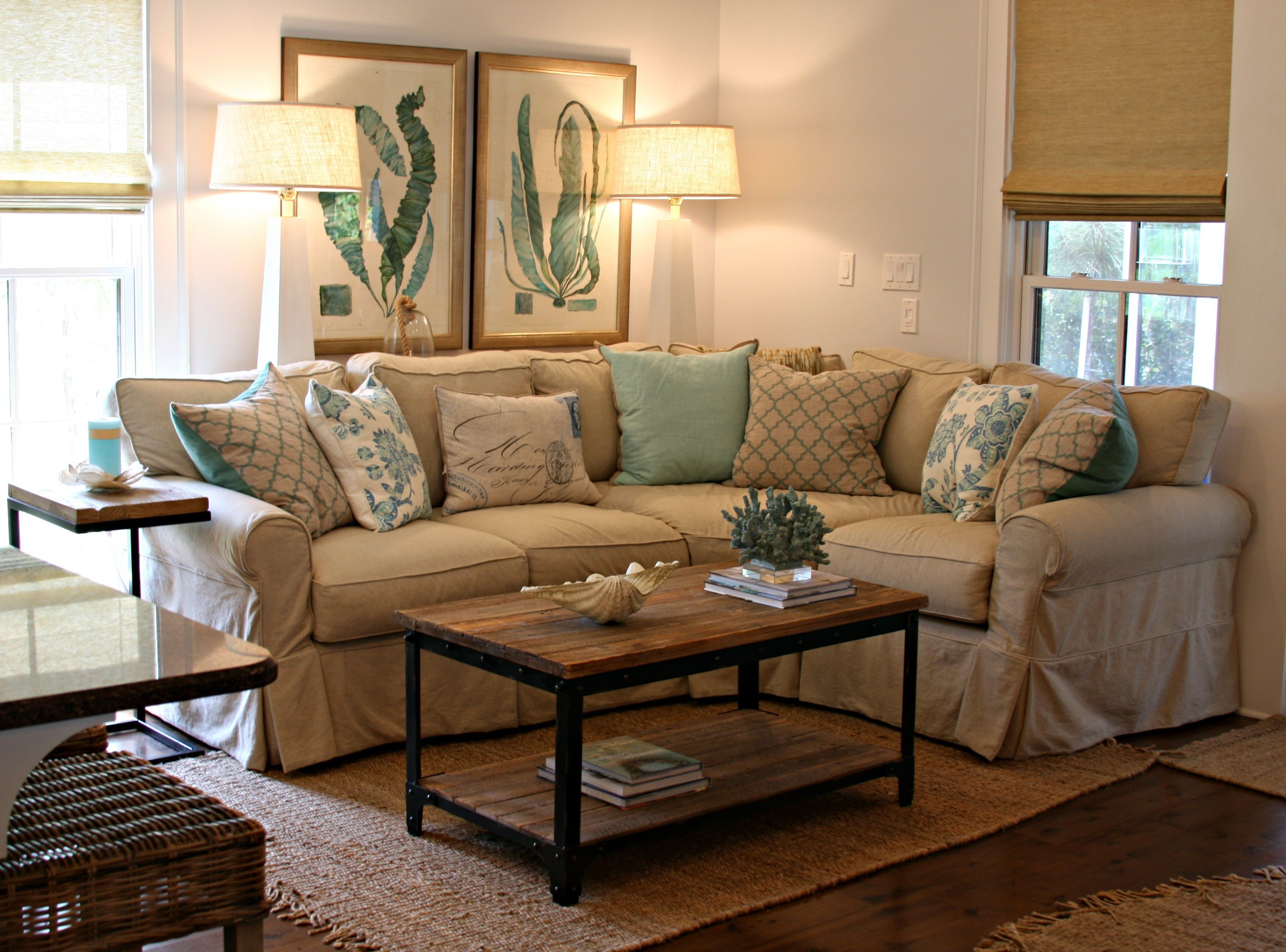 Living Room Decor with Sectional Lovely Watersound Beach Cottage Interior Design by andrea