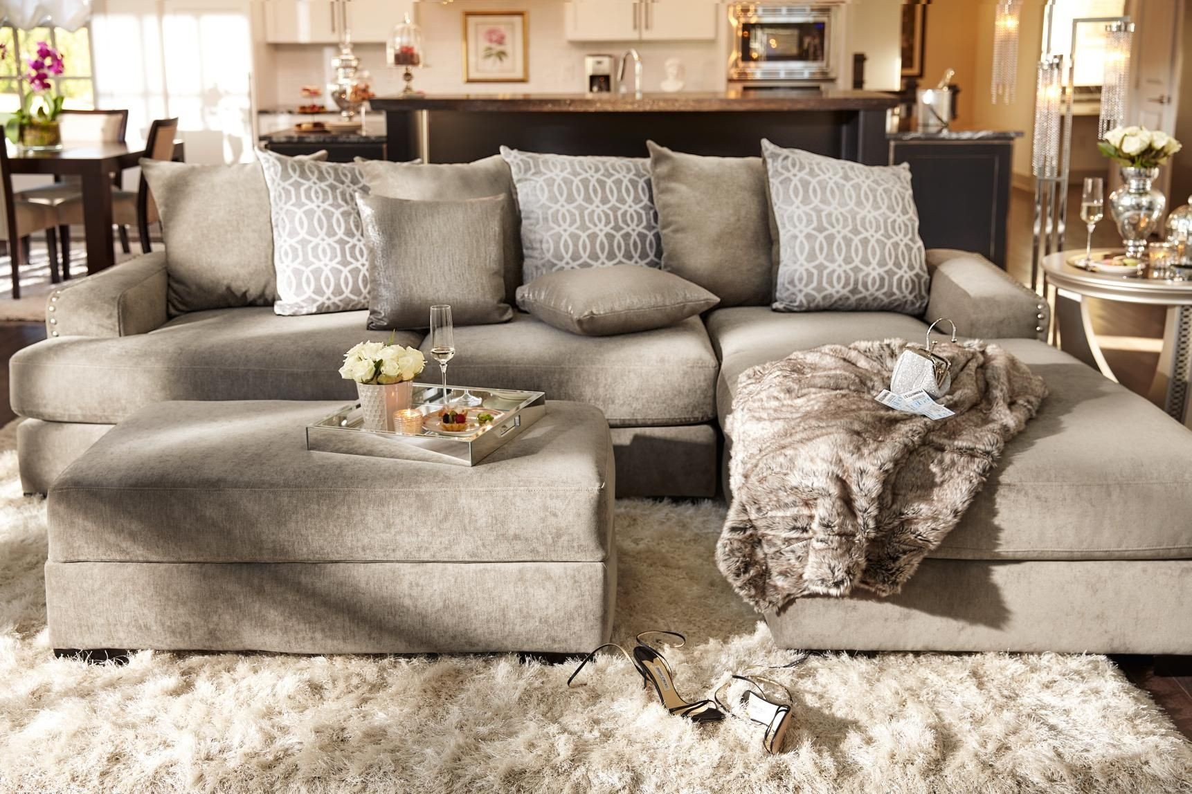 Living Room Decor with Sectional New Stay On Trend with the Uber Glam Tempo Collection with A