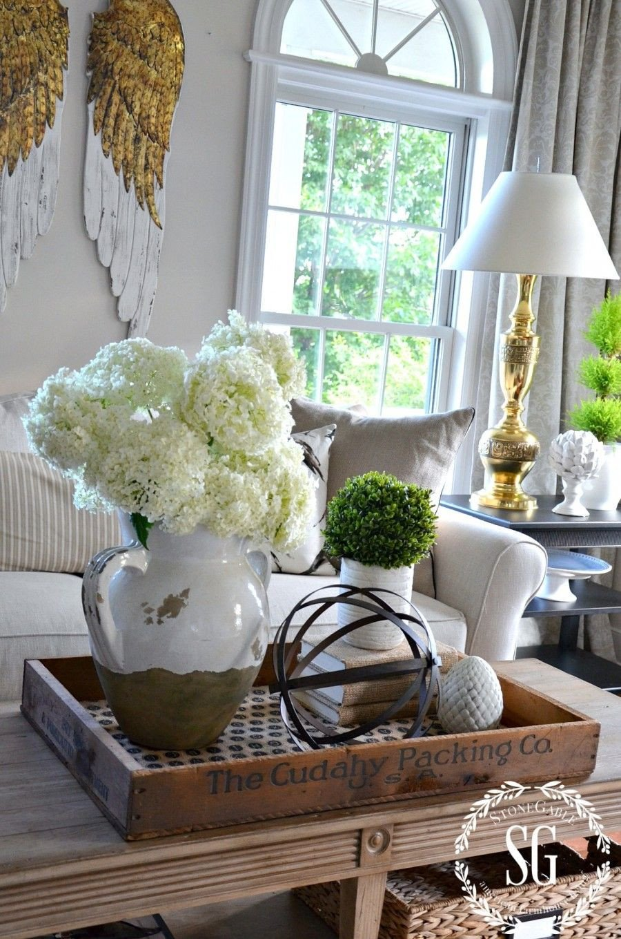 Living Room End Table Decor Elegant Bhome Summer Open House tour Home Decor