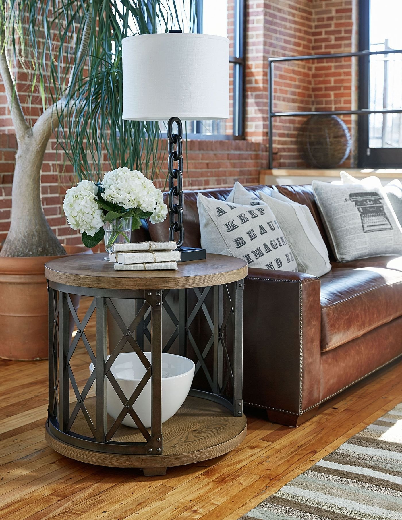 Living Room End Table Decor Elegant Metalworks Round End Table In 2019
