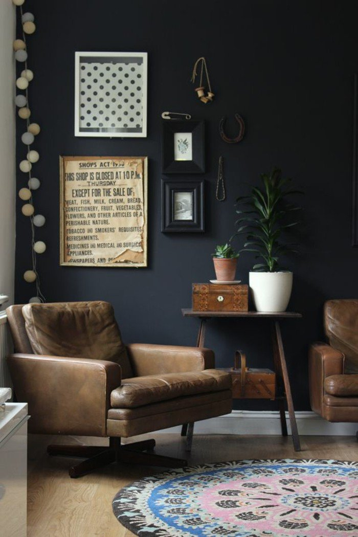 Living Room Ideas Black Fresh 70 Walls Painting Ideas In Dark Shades
