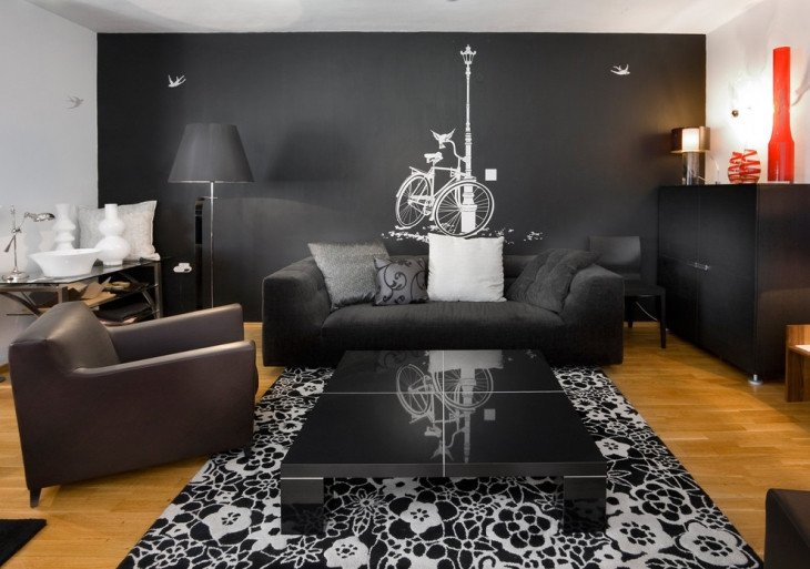 Living Room Ideas Black Unique 20 Living Room Wall Designs Decor Ideas