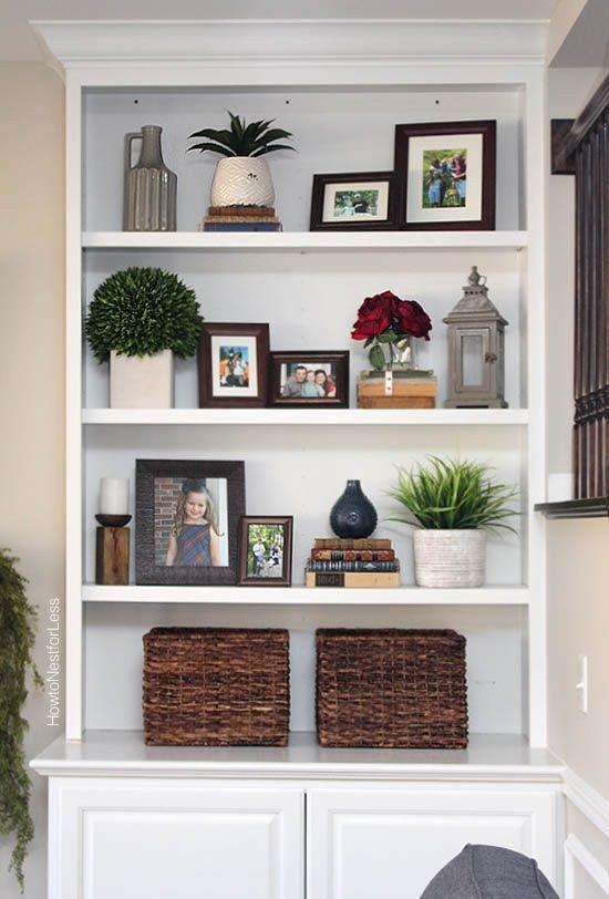 Living Room Ideas Shelves Best Of Styled Family Room Bookshelves