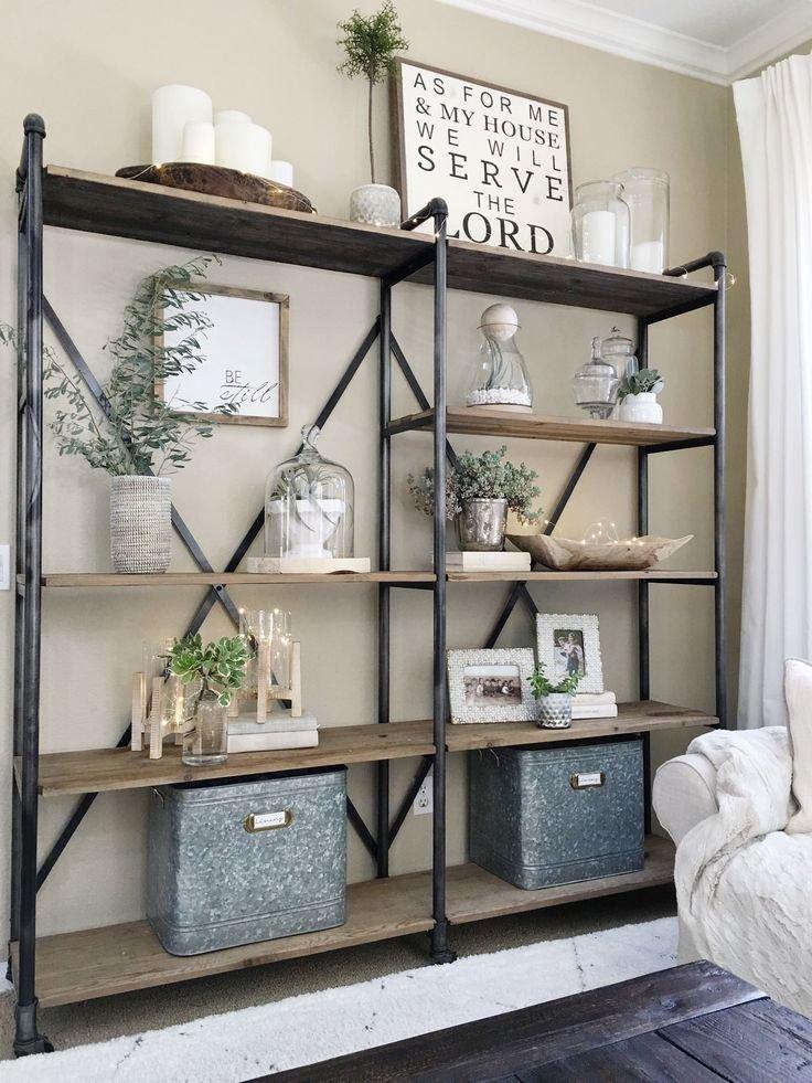 Living Room Ideas Shelves Lovely Best 25 Industrial Bookshelf Ideas On Pinterest