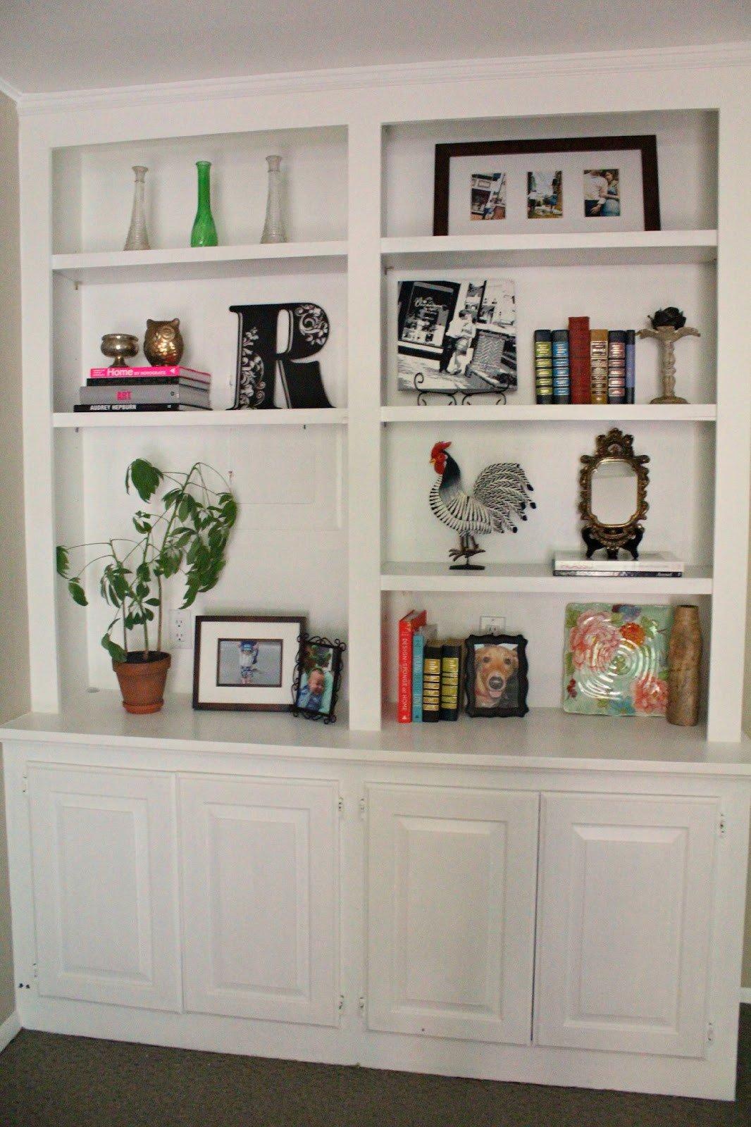 Living Room Ideas Shelves New Ten June My Living Room Built In Bookshelves are Styled