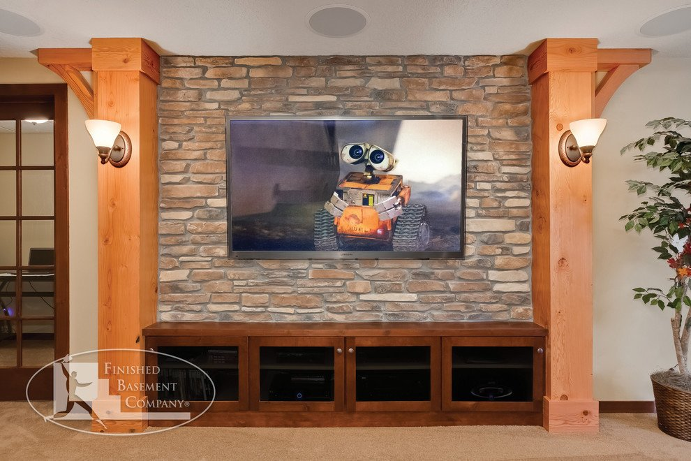 Living Room Ideas Tv Stand Inspirational Terrific Rustic Tv Stand Decorating Ideas for Basement