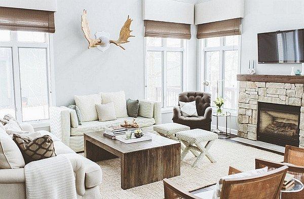 Modern Rustic Decor Living Room Elegant Breezy Summer House Lake Wisconsin Clad In Chic Modern