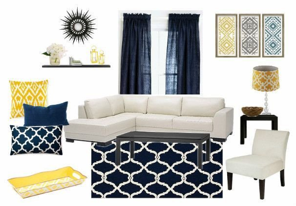 Navy Blue Living Room Decor Elegant Blue and Yellow Living Room Decor My Design Done with