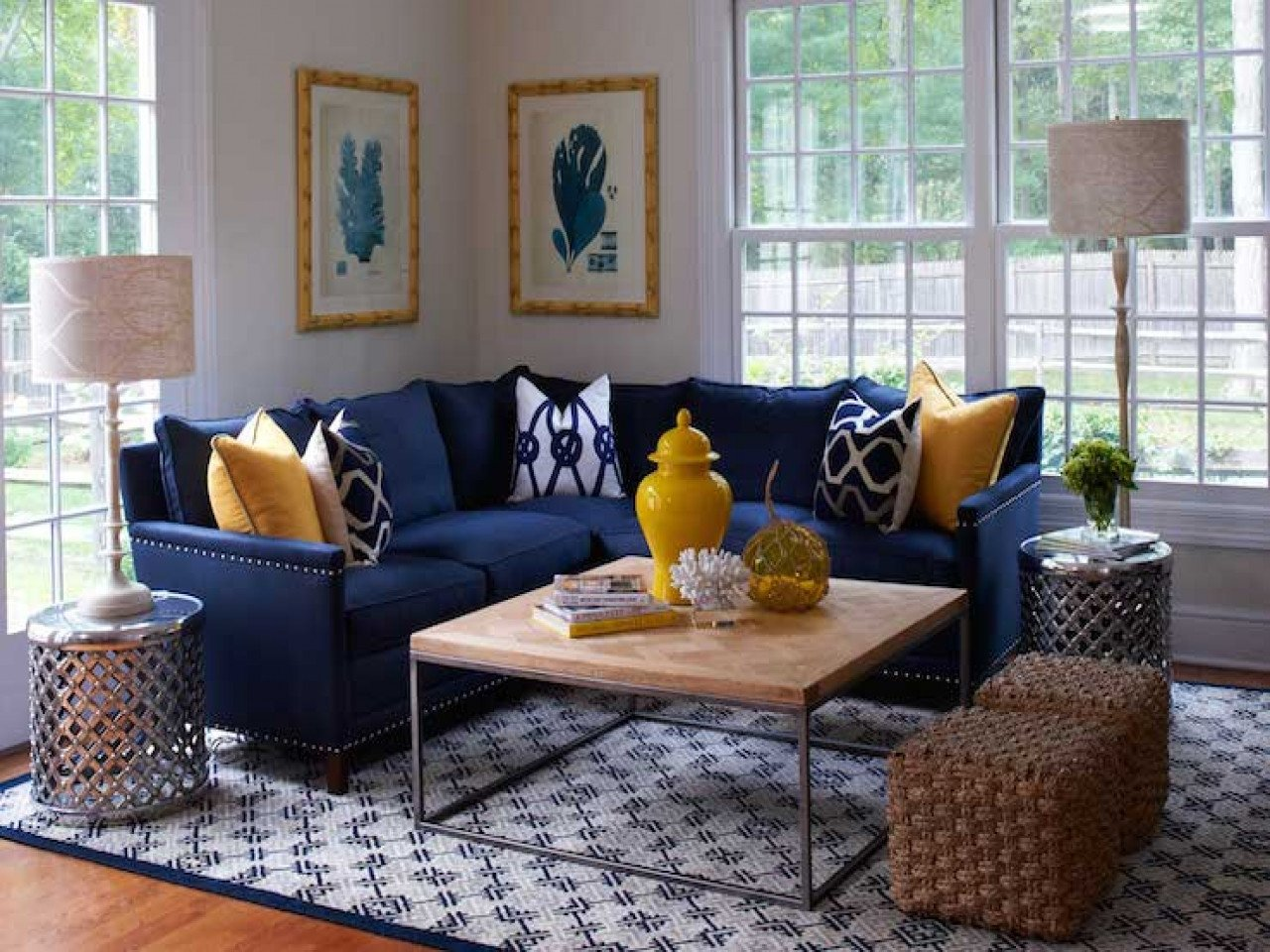 Navy Blue Living Room Decor Elegant Navy Blue Living Room Decorating Ideas