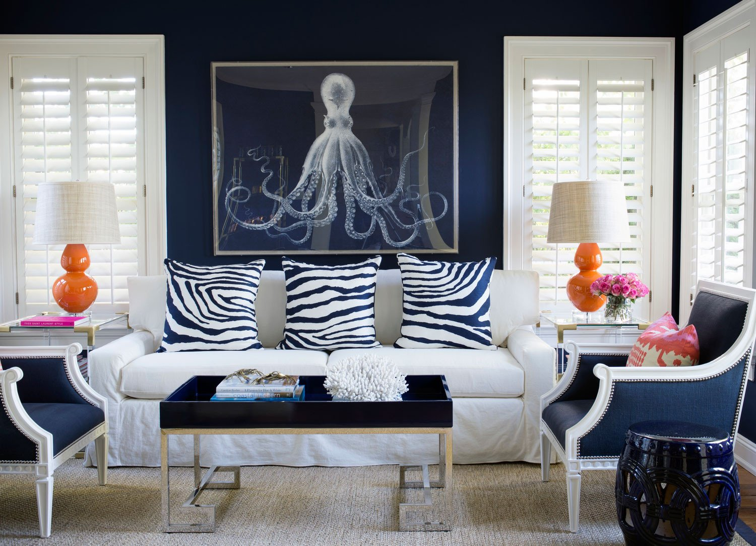 Navy Blue Living Room Decor Elegant Navy Blue Living Room Ideas – Adorable Home