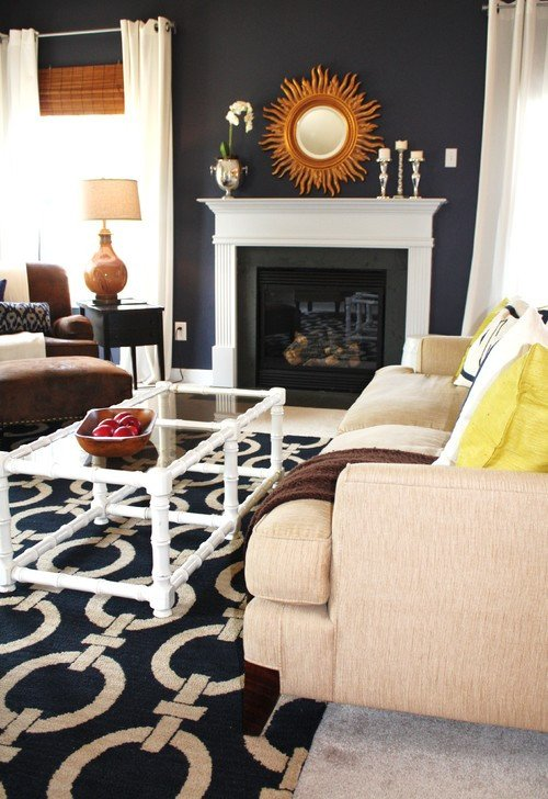 Navy Blue Living Room Decor New Color Crush Navy Blue