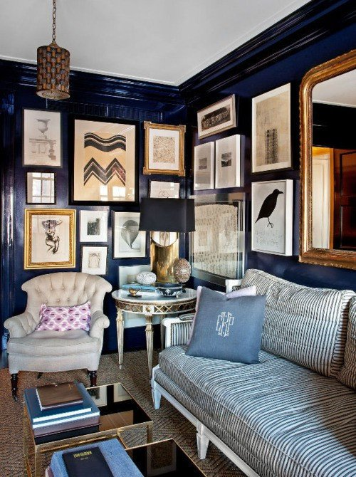 Navy Blue Living Room Decor New Navy Blue