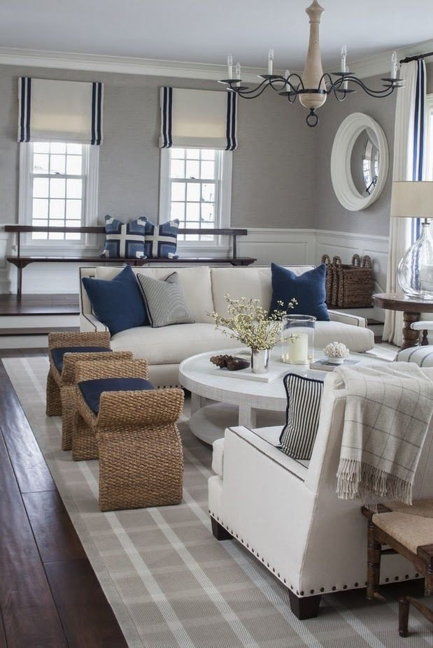 Navy Blue Living Room Decor New Pretty Grey Navy Nautical themed Room so Pretty